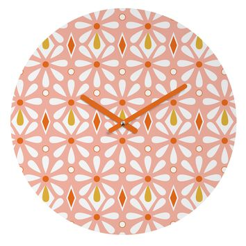 Heather Dutton Fleurette Radiant Round Clock