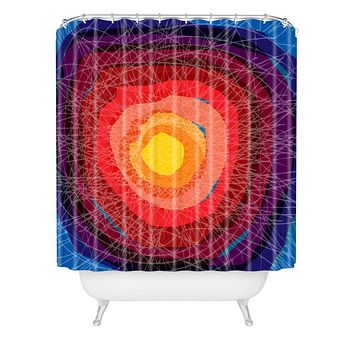 Raven Jumpo Tie Die Madness Shower Curtain