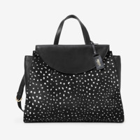 Kate Spade Saturday The Large A Satchel In Deer Dot Calf Hair