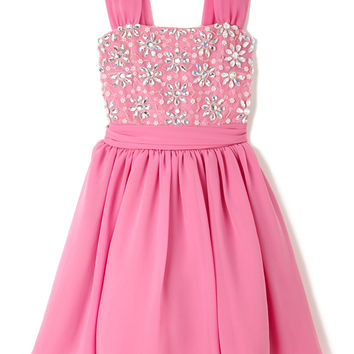 Girls Hot Pink Jewelled Bodice Prom Dress - Tammy - Children