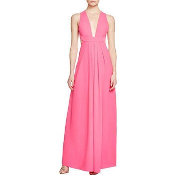 Jill Stuart Womens Crepe Cut-Out Formal Dress