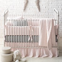 Frayed Voile & Dotted Percale Nursery Bedding Collection