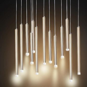 Luxury Tube LED Pendant Lights
