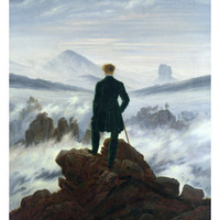 The Wanderer Above the Sea of Fog, 1818 Giclee Print by Caspar David Friedrich at Art.com