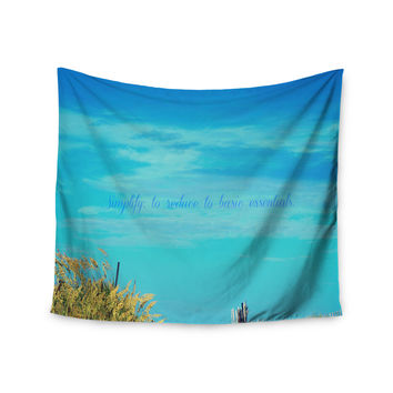 "Robin Dickinson ""Simplify"" Beach Sky Wall Tapestry"