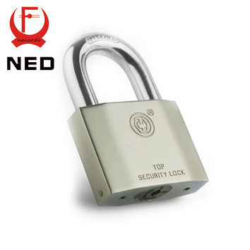 NED B7 Series Super B Grade Padlocks Silver Color Portable Anti-Theft Rustproof Luggage Suitcase Gate Lock Security Padlock