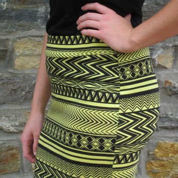 Follow The Arrows To Me Tribal Mini -- Yellow