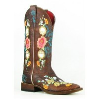 Macie Bean Boots by Anderson Bean Cowboy Boots Square Toe Sweet Sixteen Ladies Cowboy Boots