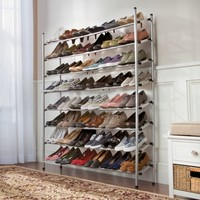Stackable 4-Tier Shoe Rack
