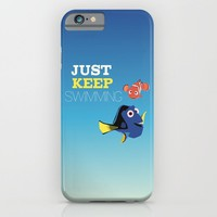 just keep swimming with nemo and dory iPhone & iPod Case by Studiomarshallarts