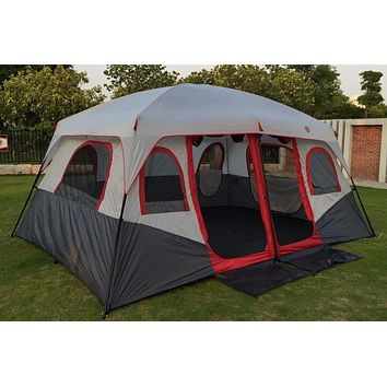 Hot sale outdoor 6 8 10 12 persons beach camping tent anti/proof /rain UV/waterproof 1 room 1 hall