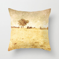 Art Throw Pillow Cover Alone photo Indoor Outdoor Pillow Covers yellow tones light photography rustic coutry one tree home decor gold tan