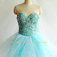 Sweetheart mini rhinestones the prom dress/homecoming dress