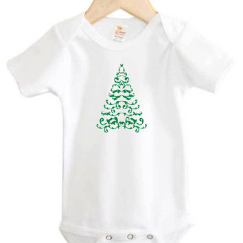 Christmas Onesuit // Christmas Tree // Christmas baby Onesuit // Holiday Baby Clothing