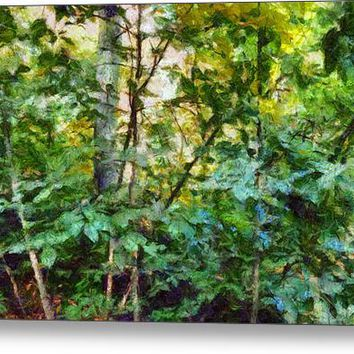 Emerald Forest Impression Canvas Print