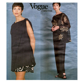 Vogue 1372 ISSEY MIYAKE PATTERN Tunic Top Shorts & Pants Pattern Designer Original 90s Avant Garde Womens Sewing Patterns Size 8 10 12 UNCuT
