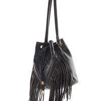 Believer Fringe Purse - Black