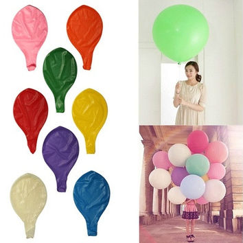 1 Pc Fashion 36 Inch Ballon Latex Ballon Birthday Wedding Party Supplies Helium Decoration Giant Huge Pearl Ballons [7978671687]