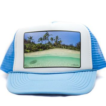 Ocean Palms Trucker Hat | Hi Xposure Clothing and Photography