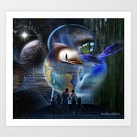 The Reality Shifters Art Print by Just Kidding