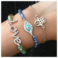 Trendy Love Bracelet Set- Tanya Kara Jewelry