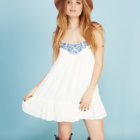 Boho Embroidered Gauze Dress | Wet Seal