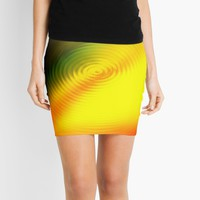 'Splashing Colors Drop Of Water Spectrum' Mini Skirt by SpieklyArt