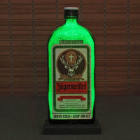 Jagermeister Liqueur.LED Bottle Lamp Light Bar Sign Man Cave Sparkle Germany
