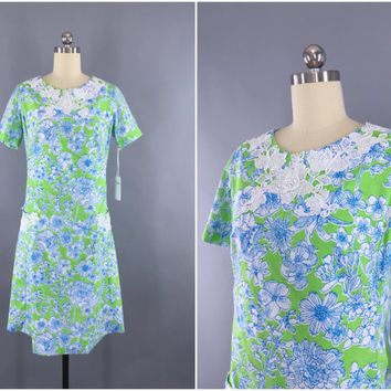 c3d47305a83ec0 Vintage 1960s Lilly Pulitzer Dress / 60s The Lilly Shift Dress /