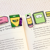 School Set Mini Magnetic Bookmarks