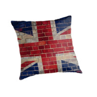 UK Union flag on a brick wall by steveball