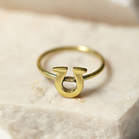 Sunahara Horseshoe Lucky Charm Ring