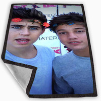 Nash Grier Cameron Dallas Blanket for Kids Blanket, Fleece Blanket Cute and Awesome Blanket for your bedding, Blanket fleece **