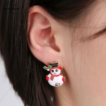 Christmas Snowman Earrings