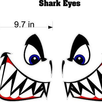 "11.5"" Tall Boat Decals Shark Eyes Quality Motor Home RV Camper Trailer Hauler Stickers Graphics"