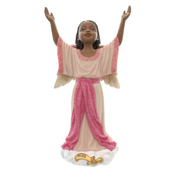 Black Art HOPE ANGELS OF INSPIRATION Polyresin African American Religious 71010