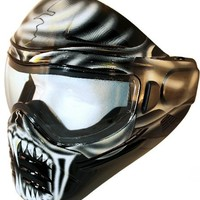 Save Phace So Phat Series Warlord Tactical Mask with White Skull and Fangs