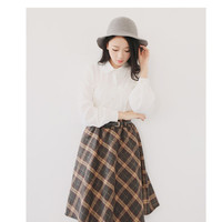 Buy Enlet Plaid A-Line Skirt | YesStyle