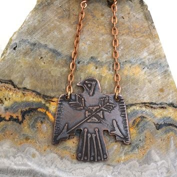 Thunderbird Copper Pendant Necklace