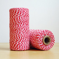 240 Yards of Red and White Bakers Twine 100% Cotton Made in USA
