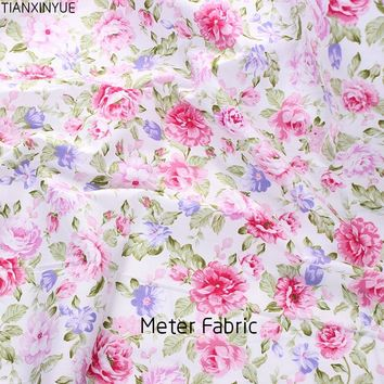 Meter fabric cotton twill sewing cloth rose floral fabrics design textile tecido tissue patchwork bedding quilting fat quarter