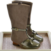 Joyfolie Cabria Boots in Charcoal Gray