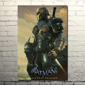 Batman Dark Knight gift Christmas Batman Arkham Knight Origins Art Silk Poster Huge Print 13x20 32x48 Bedroom Decor Vedio Game Deathstroke Pictures 007 AT_71_6