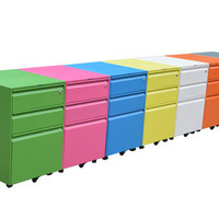 MetalArt Mobile File Cabinet Pedestal with Box/Box/File Configuration Available in 7 Different Colors. FREE DELIVERY IN PUERTO RICO!