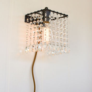 Wall Sconce Light with Glass Gems
