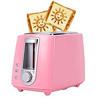 Bread Toaster Ovens Toaster Machine - 220V Chanbly 6 Gears 2 Slice for Rapid Both Side Bake Colour Pink