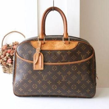 PEAPYD9 Louis Vuitton Bag DEAUVILLE Monogram Tote Authentic France vintage Handbag