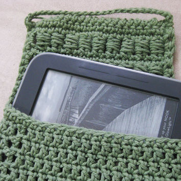 Crochet Nook Cover Block Stitch Sage Green