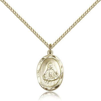 """Saint Frances Cabrini Medal For Women - Gold Filled Necklace On 18"""" Chain - 3... 617759786231"""