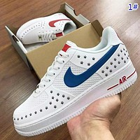 NIKE Air Force 1 New fashion star hook low top couple shoes 1#